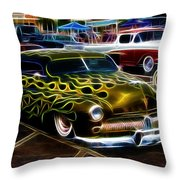 Chopped And Flamed Throw Pillow