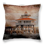 Choptank River Lighthouse Throw Pillow