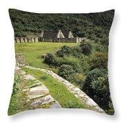 Choquequirao Inca Terraces Throw Pillow
