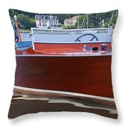 Chris Crafted Throw Pillow
