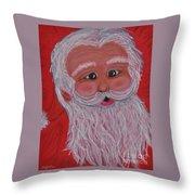 Chris Kringle Throw Pillow