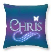 Chris Name Art Throw Pillow