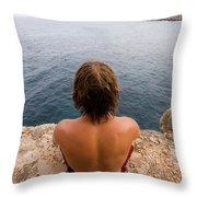 Chris Sharma Relaxing And Meditating Throw Pillow
