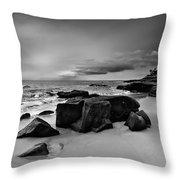 Chris's Rock 2013 Black And White Throw Pillow