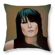 Chrissie Hynde Painting Throw Pillow