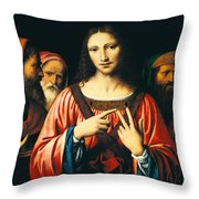 Christ Among The Doctors Throw Pillow