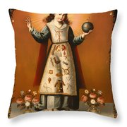 Christ Child With Passion Symbols Throw Pillow