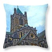 Christ Church Cathedral In Dublin Throw Pillow