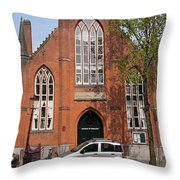 Christ Church Of England In Amsterdam Throw Pillow