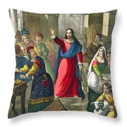 Christ Cleanses The Temple Throw Pillow