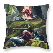 Christ In The Garden Of Olives Throw Pillow