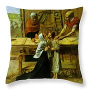 Christ In The House Of His Parents Throw Pillow