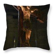 Christ Of Salardu Throw Pillow