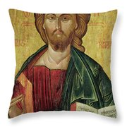 Christ Pantocrator Throw Pillow