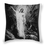 Christ Preaching To The Spirits In Prison C. 1910 Throw Pillow