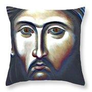 Christ The Judge Throw Pillow