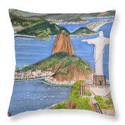 Christ The Redeemer Throw Pillow