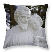 Christ With A Child Throw Pillow