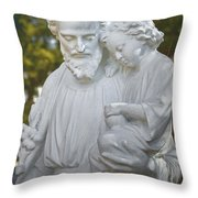 Christ With Child Throw Pillow