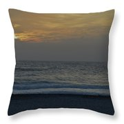 Christams Eve On The Gulf Throw Pillow