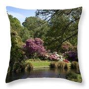 Christchurch Botanic Gardens New Zealand Throw Pillow