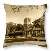 Christchurch Village Green Throw Pillow