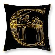 Christian Initial Letter E Throw Pillow