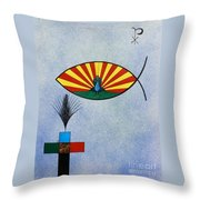 Fish Of Creation Throw Pillow