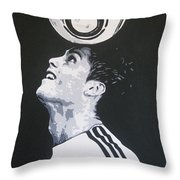 Christiano Ronaldo - Real Madrid Fc Throw Pillow