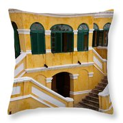 Christiansted National Historic Fort Throw Pillow