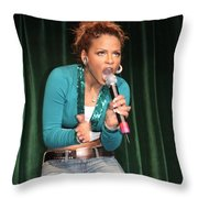 Singer Christina Milian Throw Pillow