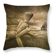 Christina's World Revisited Throw Pillow