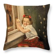 Christine By The Window - 1945 Throw Pillow