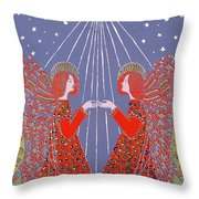 Christmas 77 Throw Pillow by Gillian Lawson