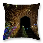 Christmas Arch Zoom Throw Pillow
