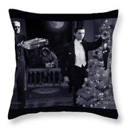 Christmas At Dracula's Throw Pillow