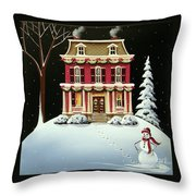 Christmas At Grandma And Grandpa's Throw Pillow