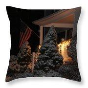 Christmas At Home Throw Pillow