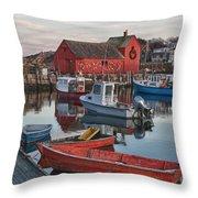 Christmas At Motif1 Rockport Massachusetts Throw Pillow