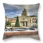 Christmas At Sugar Land City Hall Throw Pillow