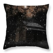 Christmas At The Homestead Throw Pillow