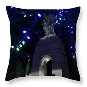 Christmas At The War Memorial Throw Pillow