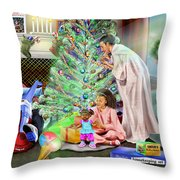 Christmas Back In Da Day Throw Pillow