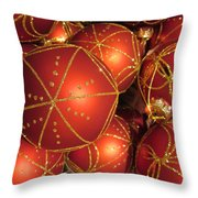 Christmas Balls In Red And Gold Throw Pillow