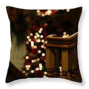 Christmas Banister 1 Throw Pillow