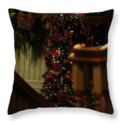 Christmas Banister 2 Throw Pillow