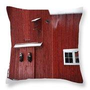 Christmas Barn 3 Throw Pillow