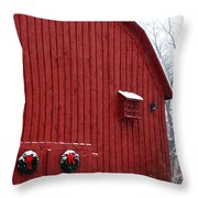 Christmas Barn 4 Throw Pillow