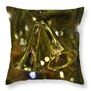 Christmas Bells Ornaments Faneuil Hall Tree Boston Throw Pillow