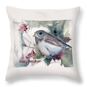 Christmas Birds 01 Throw Pillow